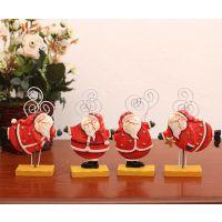 【新款热销】田园风格 树脂摆件 4款圣诞老人名片夹-单个价