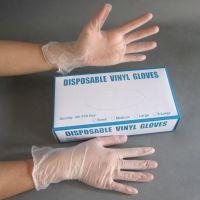 东莞佳创一次性塑料手套 pvc透明白色无粉手套生产厂家