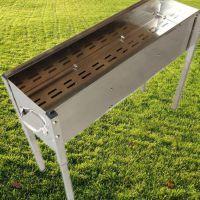 加厚加宽不锈钢烧烤炉子家用户外便携木炭烧烤箱烤肉架批发