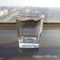 透明钢化玻璃杯  四角底钢化杯  烈酒杯   钢化餐具杯  酒杯
