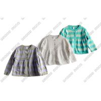 供应童装 秋款条纹童针织衫 童上装 童装批发