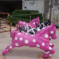 现货供应玻璃钢仿真彩绘马雕塑 马年骏马雕塑 静态马雕