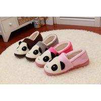 新款可爱熊猫情侣拖鞋 家居棉拖鞋 居家室内地板棉鞋男女家居鞋
