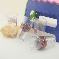 供应批发透明塑料广告杯 500MLPS直筒塑料口杯 混批 特价起批