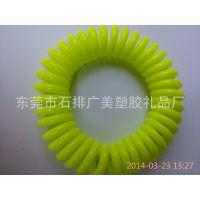 厂家特供 透明塑料QQ圈 电话线发圈 实色小号发圈