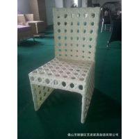 供应金属铝框架塑料休闲咖啡展会咖啡花园户外别墅家具椅子