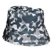 帽工厂供应涤纶涤棉迷彩渔夫帽 边帽 沙滩帽 太阳帽遮阳帽子hat