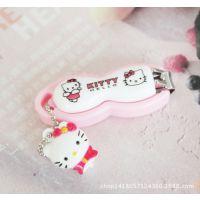 粉色凯蒂猫卡通可爱指甲钳 凯蒂猫公仔指甲刀美甲剪