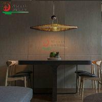 设计吊灯餐厅灯现代简约客厅灯具卧室饭厅灯船形木艺灯饰