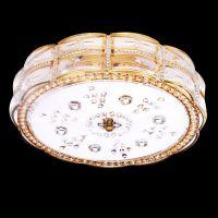 金色水晶灯吸顶灯卧室灯led圆形餐厅灯具灯饰 8837
