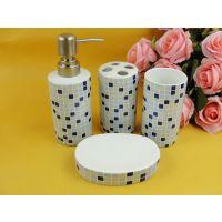 陶瓷卫浴四件套 卫生间用品批发 浴室四件套 洗漱用品