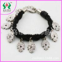 【新款手链】2013新款时尚精致手掌百搭韩国绒合金挂件手链饰品厂