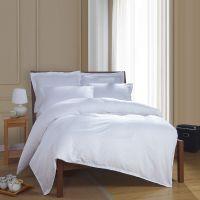 批发 宾馆酒店三件套四件套40S贡缎缎条纯棉床上用品全棉被套床单