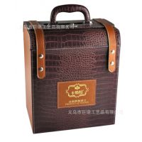 卡斯特红酒六瓶装皮盒|葡萄酒专卖店批发高档送人礼盒|红酒皮盒