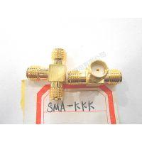 射频同轴连接器 SMA-KKK SMA母头 三通 外螺内孔 一分二接头