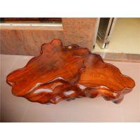 红木茶台 缅甸花梨根雕茶几 整木雕刻 无拼接 梅花形实木茶台