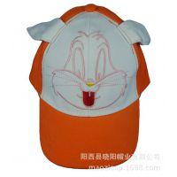 供应帽子定制2014秋冬季新款卡通兔耳朵天使翅膀系列印刷绣花儿童帽子