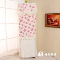 厂家直销高档温馨玫瑰创新空调柜机罩布艺蕾丝立式空调罩 防尘罩