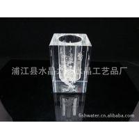 水晶四方笔筒90x120mm,水晶礼品,水晶饰品