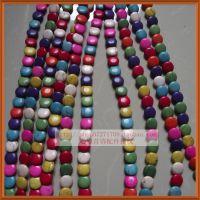 天然绿松石/12mm斜孔片扁珠饰品配件/彩色diy隔珠散珠子材料批发