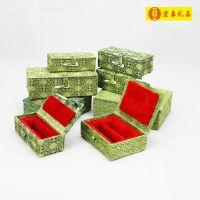 (2.0*7.0cm单章)印章盒装尺寸 青田石寿山石棉绒锦盒 批发订做