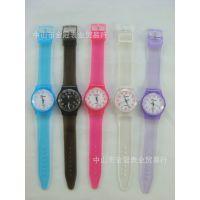 透明底盖女款男款 时尚韩版儿童表 高档pvc手表学生手表批发