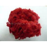 Red Solid Spinning Regenerated Polyester Staple Fiber 1.2D - 6D, 32mm, 38mm, 51mm length