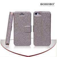 类iphone5c手机壳 苹果5c保护套 蚕丝纹皮套外壳 插卡支架皮套