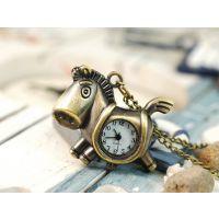 怀表 创意挂件表钥匙扣表木马 古铜钥匙扣表挂件 可以开正规发票