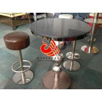 供应玫瑰金不锈钢酒吧桌子|酒吧软包凳|慢摇吧散桌散台专卖厂家