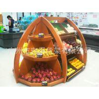 木质水果架 白云商超货架 可定制 水果展示架蔬菜架 广州厂家批发