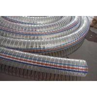 工厂批发环保PVC透明钢丝管/PVC钢丝透明管/耐油耐酸碱PVC钢丝管