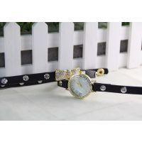 新款 编织皮带手链表 韩国时尚女表 小巧可爱手表 批发