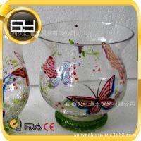 厂家供应 外贸透明玻璃 花瓶 鱼缸 水培瓶 烛台风灯