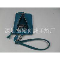 深圳钥匙包厂家 专业生产 时尚钥匙包 外贸真皮钱包 女士手拿钱包