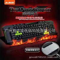 供应黑爵 黑暗骑士 网吧版 PS/2有线游戏键盘 台式电脑专用键盘