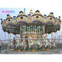 豪华旋转木马游乐项目儿童乐园娱乐设备许昌巨龙游乐