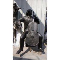 现代艺术铜雕雕塑摆设品造型人物雕塑萨克斯艺术品