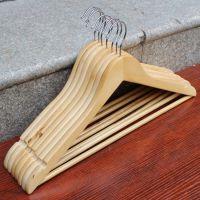 2元店 实木衣架 西装木衣架 木质晾衣架木衣挂 凹槽防滑木衣架