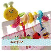 韩国田园昆虫婴儿床绕床铃床挂毛绒新生儿早教床上床头玩具