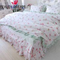 美丽梦想家纺夏季竹节棉四件套舒爽透气吸湿排汗公主床上用品
