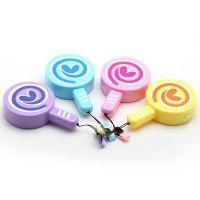 波板糖风扇 迷你干电池电扇 手持式小风扇 糖果色创意时尚