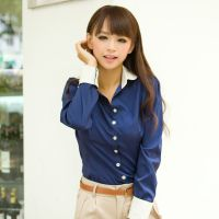 实拍 新款韩版修身秋装打底衫职业衬衣长袖上衣雪纺女衬衫