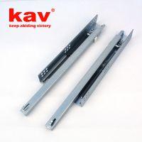 两节半开阻尼抽屉滑轨 带调整钉 家具路轨托底式缓冲滑道