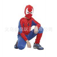 蜘蛛侠套装万圣节Cosplay儿童节套装儿童紧身连体蜘蛛侠服装男童