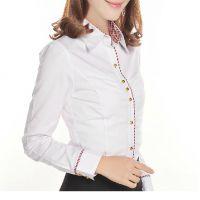 新款职业装OL女装衬衣打底白衬衫女长袖修身韩版衬衫定做
