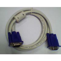 供应双磁环25米 3+4电脑主机连接显示器线 高品质VGA连接线 工厂直销