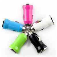 车载充电器 迷你点烟器头带USB插口 手机充电器 多款颜色