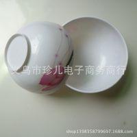 一元专批 12CM仿瓷白汤碗 饭碗 烤瓷碗 密胺美耐皿厨房用具批发
