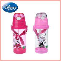 迪士尼正品 儿童吸管水杯 防漏背带饮水杯3635